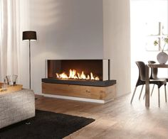 Contemporary Corner Gas Fireplace. See More. August 9, 2012 . Fireplaces  With Superb Minimalist Designs. Fireplaces .
