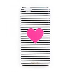 iphone case - black/white stripe with neon heart - ban. Cute Cases, Cute Phone Cases, Iphone 6 Cases Black, Iphone Cases, Black White Stripes, Black And White, People Shopping, Cell Phone Covers, Tech Accessories