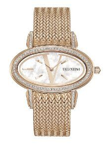 Valentino Women's Signature Rose Gold Plated Diamond Oval Watch Valentino Watches, Simply Fashion, Valentino Women, Oval Diamond, Metal Bands, Gold Watch, Watch 2, Rose Gold Plates, Cool Watches