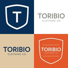 Toribio Clothing - Logo versions and color palette.