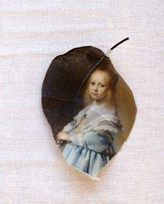 Alangium blad bedrukt met het schilderij Portret van door PuurAnders