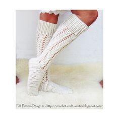 Aran Cabled knee-socks  Crochet Pattern  von PdfPatternDesign