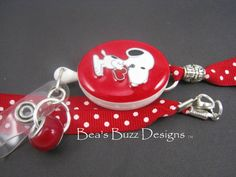 PUP LUV  RNDesigner Id Badge HolderCute Id by BeasBuzzDesigns, $18.00