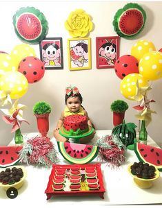 Watermelon Decor, Watermelon Baby, Little Box, Watermelon Birthday Parties, Baby Party, Birthday Party Decorations, Girl Birthday, Party Time, First Birthdays