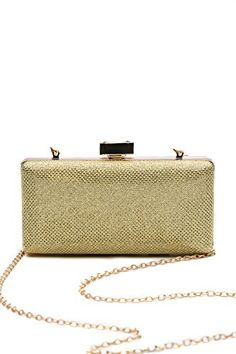Women Clutch Purse Wallet Hard Case Glitter Evening Bag Handbag With Chain Strap gold >>> See this great product.Note:It is affiliate link to Amazon. #CarryWithYou