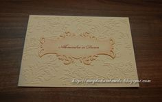 Mostra - invitatie de nunta pentru Alexandra / Sample - Wedding invitation for Alexandra