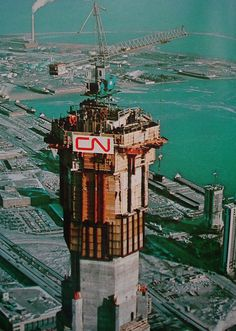 The CN Tower in the making.