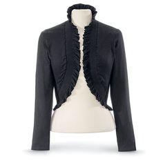 Black Ruffled Shrug - Women's Clothing & Symbolic Jewelry – Sexy, Fantasy, Romantic Fashions