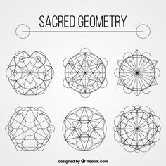 Geometric shape collection Free Vector