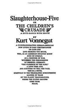 Vonnegut Quotes Slaughterhouse Five