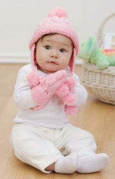 Knit Baby Set Free Pattern from Red Heart Yarns