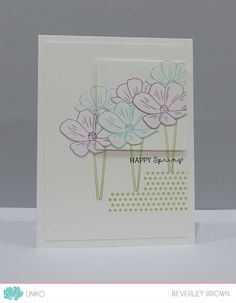 Stamp Of The Week - Pure Florals: Cosmos - Uniko Happy Weekend, Clear Stamps, Cosmos, Pure Products, Simple, Florals, Giveaway, Cards, Blog