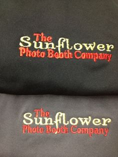 Another local business has their employees shirts embroidered here at PIC! Sunflower Photo Booth does a fantastic job on nearly all your photography needs!