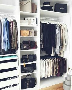 Closet Organization Ideas - See extra ideas about Organizing tips, Walk in Closet and also Walk in wardrobe . Walk In Wardrobe, Wardrobe Design, Walk In Closet, Closet Space, Small Wardrobe, Small Closets, Corner Wardrobe, Open Closets, Master Closet