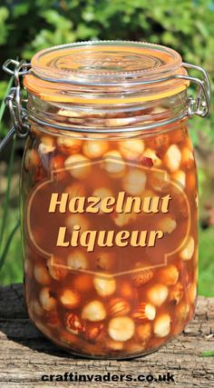 This simple hazelnut liqueur recipe only takes minutes to prepare but results in a deliciously rich and smooth nut flavoured liqueur that is perfect for gifting. Homemade Liqueur Recipes, Homemade Alcohol, Homemade Liquor, Gin Recipes, Alcohol Drink Recipes, Cocktail Recipes, Cocktails, Cooking Recipes, Flavored Alcohol