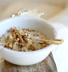 Breakfast Porridge, Breakfast Recipes, Healthy Lifestyle, Oatmeal, Clean Eating, Brunch, Good Food, Pudding, Recipes