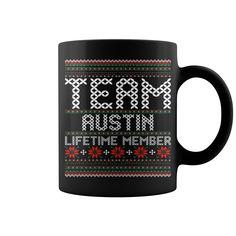 Team Austin Lifetime Member Ugly Christmas mug