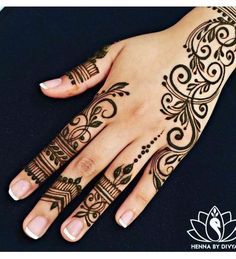 Henna Tattoo Designs Gallery - Wedding Henna Designs for Brides Images collection. this is new collection wedding henna tattoo designs for bride Henna Hand Designs, Eid Mehndi Designs, Mehndi Designs Finger, Mehndi Designs For Beginners, Mehndi Designs For Fingers, Beautiful Henna Designs, Latest Mehndi Designs, Simple Mehndi Designs, Henna Tattoo Designs