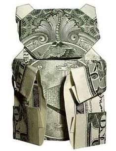 Dollar Bill Panda Oragami. His face is kinda weird. But I think you can do this :)