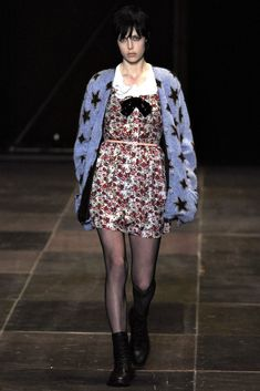 Saint Laurent, Fall 2013 Just when you thought that Marc Jacobs at Perry Ellis owned the whole notion of grunge on the runway, along came Hedi Slimane with his full-on clash between the legacy of YSL and gloriously downbeat Seattle.