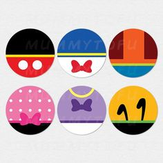 Mickey Mouse Clubhouse Party Circle Cupcake Toppers by mummytofu