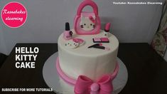 Simple cake design hello kitty makeup accessories You are in the right place about birthday cake boys Here we offer you the most beautiful pictures about the birthday cake ideas you are looking for. Makeup Birthday Cakes, Cartoon Birthday Cake, Hello Kitty Birthday Cake, Friends Birthday Cake, Animal Birthday Cakes, 4th Birthday Cakes, Hello Kitty Cake, Happy Birthday, Funny Birthday