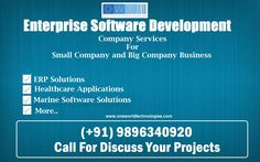 Enterprise Applications and Software Development Company Services Available for you and anywhere in world. Call   (+91) 9896340920  and Visit Website www.oneworldtechnologies.com and discuss your project detail.