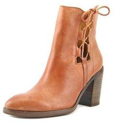 Latigo Jace Women Round Toe Leather Brown Ankle Boot.