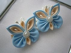 Handmade Kanzashi girls women ladies hair clips bows- buy in UK,shipping worldwide