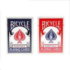 54Pcs Original Bicycle Poker Blue or Red Regular Bicycle Playing Cards Rider Back Standard Decks Magic Trick Poker Game