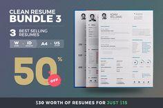 Clean Resume - Bundle Edition Vol. 2 by TheResumeCreator on College Resume Template, Simple Resume Template, Resume Design Template, Resume Templates, Resume Action Words, Resume Words Skills, Resume Tips, Resume Cv, Simple Resume Examples