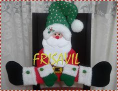 CUBRESILLA NAVIDEÑO PAPANOEL Christmas Stockings, Holiday Decor, Home Decor, Covering Chairs, Decorated Chairs, Chair Covers, Holiday Ornaments, Christmas Cushions, Hand Embroidery