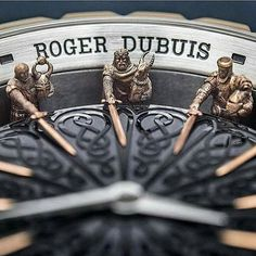 Roger Dubuis Knights of the Round Table ll with 12 amazing, mean-looking Knights sitting around the dial! Skeleton Watches, Patek Philippe, Beautiful Watches, Cool Watches, Wrist Watches, Luxury Watches, Color Photography, Chronograph, Watch Complications