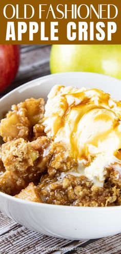 Absolutely the best and easiest Apple Crisp you'll ever make! The perfect combination of apples and topping come together for this simply amazing and cozy dessert! The post Old Fashioned Apple Crisp appeared first on Dessert Park. Best Apple Crisp Recipe, Apple Crisp Easy, Apple Crisp Recipes, Apple Crisp Recipe Pioneer Woman, Apple Crisp Healthy, Individual Apple Crisp Recipe, Best Apple Crisp Ever, Apple Crisp Pie, Apple Crisp Topping