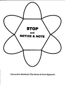 Notice and Note Signpost Homework/Assessment Sheet