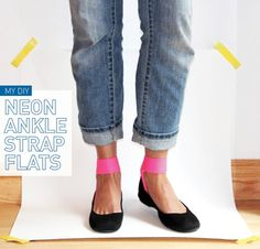 TO DIY OR NOT TO DIY: NEON ANKLE STRAP FLATS