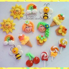 Cute Polymer Clay, Cute Clay, Polymer Clay Miniatures, Polymer Clay Charms, Polymer Clay Jewelry, Foam Crafts, Diy Arts And Crafts, Crafts For Kids, Clay Magnets