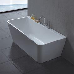 Celeste Genova er et badekar i moderne design for montering mot vegg, i 170 cm lengde. Badekaret leveres i en helstøpt form, med skjulte justerbare ben i aluminium og push-up bunnventil. Badekaret i ren hvit akryl har høy slitestyrke med en blank overflate som gjør det hygienisk. Skjulte justerbare føtter på stålramme tåler stor belastning og gir mulighet for tilpasning ved fall på badegulvet. Badekaret har en helstøpt rektangulær utforming med rette slette flater, for montering mot vegg…