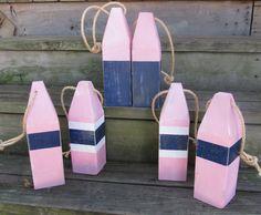 Set of 6 Reclaimed Wooden Buoys.  $70.00, via Etsy. Fancy Party, Decor Wedding, Wedding Fun, Lake Shore, Nantucket, Nautical, Preppy, Sailing, Navy Marine