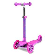 Loving this Pink & Purple Zing Three-Wheel Kids Scooter on 3 Wheel Scooter, Best Scooter, Kids Scooter, Pro Scooters, Third Wheel, Ride On Toys, Body Wraps, Rear Brakes, Tricycle