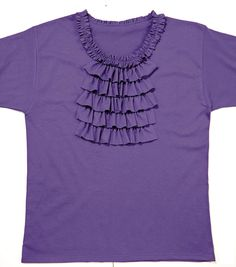 Adult T-Shirt with Ruffles