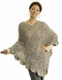 Keep the warmth going all year long with this Oversized Lean Poncho crochet pattern. With a crochet wearable that is good for any season, there is no reason not to work up this poncho pattern. Crochet Bolero, Poncho Au Crochet, Crochet Poncho Patterns, Crochet Shawls And Wraps, Love Crochet, Crochet Scarves, Crochet Clothes, Knitting Patterns, Knit Crochet