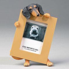 "E&S Pets Black Dachshund Dog 2.5"" x 3.5"" Frame"