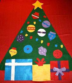 DIY No-Sew Felt Christmas Tree Ideas. Fun pretend play for kids. Christmas Crafts For Toddlers, Christmas Card Crafts, Toddler Christmas, Christmas Activities, Felt Christmas, Toddler Crafts, Christmas Projects, Winter Christmas, Christmas 2014