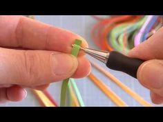 Quilling: technique des bouclettes - Tuto rapide - YouTube