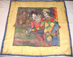 Custom Order  Silk Square Scarf AU LAPIN AGILE by stahl on Etsy