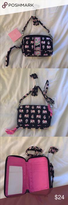Vera Bradley Crossbody New Vera Bradley pink elephant crossbody. Approximately 5x3.5 inches Vera Bradley Bags Crossbody Bags