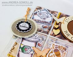 Creative Creations by Andrea Gomoll | Creating Pocketletters: Coffee and Tea themed | http://andrea-gomoll.de