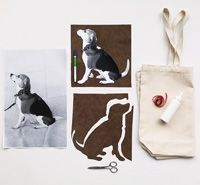 DIY Craft - Silhouette Tote | Modern Dog magazine this is so cute and looks easy enough to actually do on a rainy day.