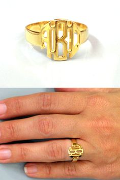 Trending Jewelry-Monogram Ring Personalized by HandmadeChicJewelry